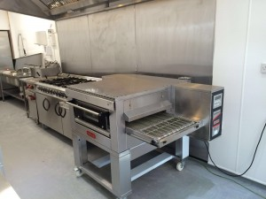 Zanoli Gas Conveyor pizza oven delivered and installed by FSW